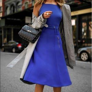 $750 Grey Jason Wu Blue Strap Sheath Dress US 2